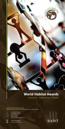 Premios Mundiales del Hábitat 2015/16: Folleto Informativo