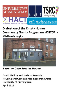 Evaluation of the Empty Homes Community Grants Programme – Midlands