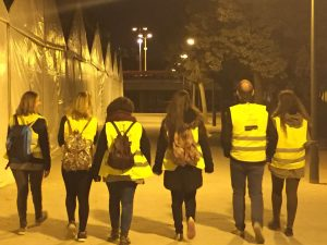 Valencia Meet Up volunteers walking the streets