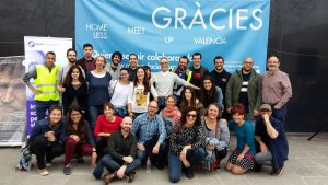 Valencia Homeless Meetup volunteers party